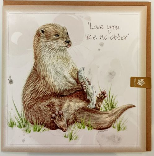 Card - River otter